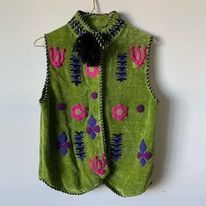 Tops - Vintage embroidered boho hippie peasant blouse